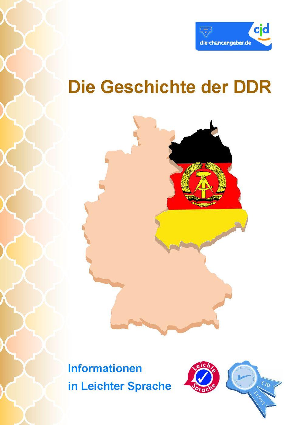 Die Geschichte Der Ddr Cjd Erfurt In Leichter Sprache